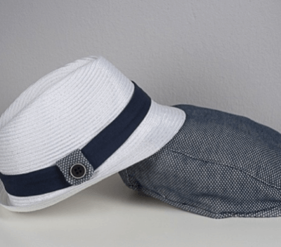 Boys Boutique White Hat with featured Band