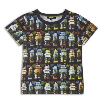 Boys Boutique Black Cool Noisy Robot T-shirt