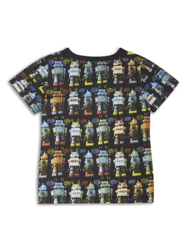 Boys Boutique Black Cool Noisy Robot T-shirt