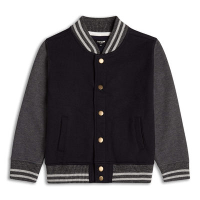 Boys Boutique Black & Grey Baseball Jacket