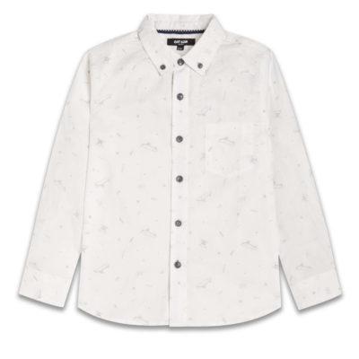 Boys Boutique White & Grey Skater Dude Shirt
