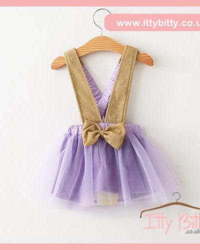 Itty Bitty Purple & Gold Fashion Bow Tutu