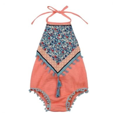 Itty Bitty Orange Margot Romper