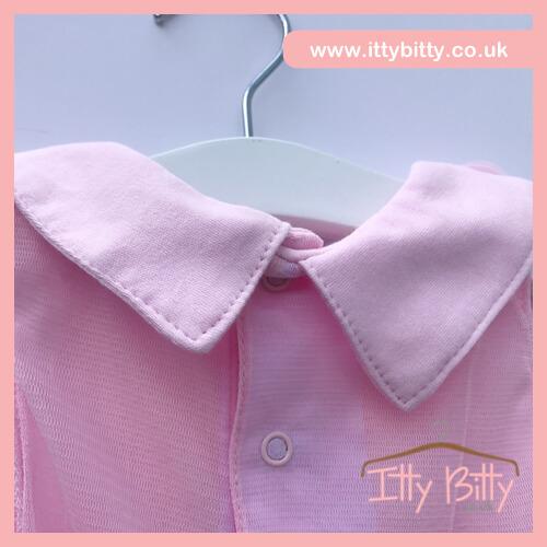 Itty Bitty 2017 Spring Pink Collar Chiffon Flower Dress