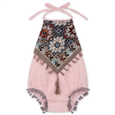Itty Bitty Pink Margot Romper