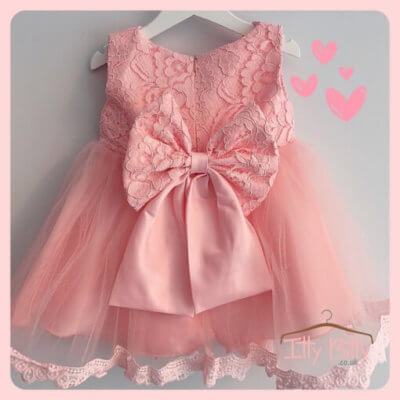 Pink Princess Bow Dress