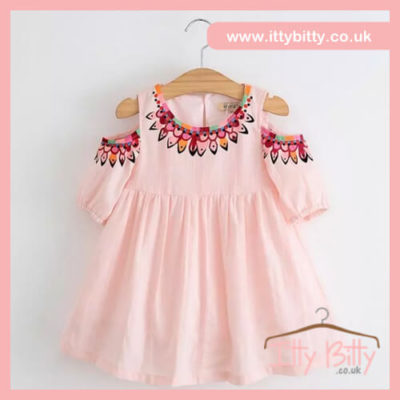Itty Bitty Pink Cold Shoulder dress