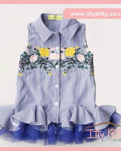 Itty Bitty Embroidered Tutu Shirt