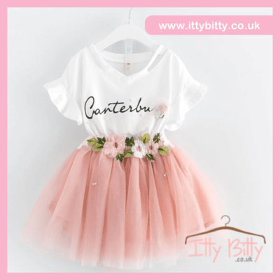 Itty Bitty Flower Detail Tutu Set