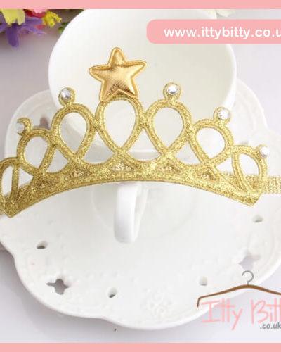 Gold Princess Tiara Headband