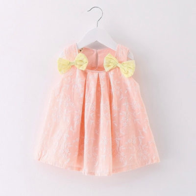 Itty Bitty Pink Summer Bow Dress