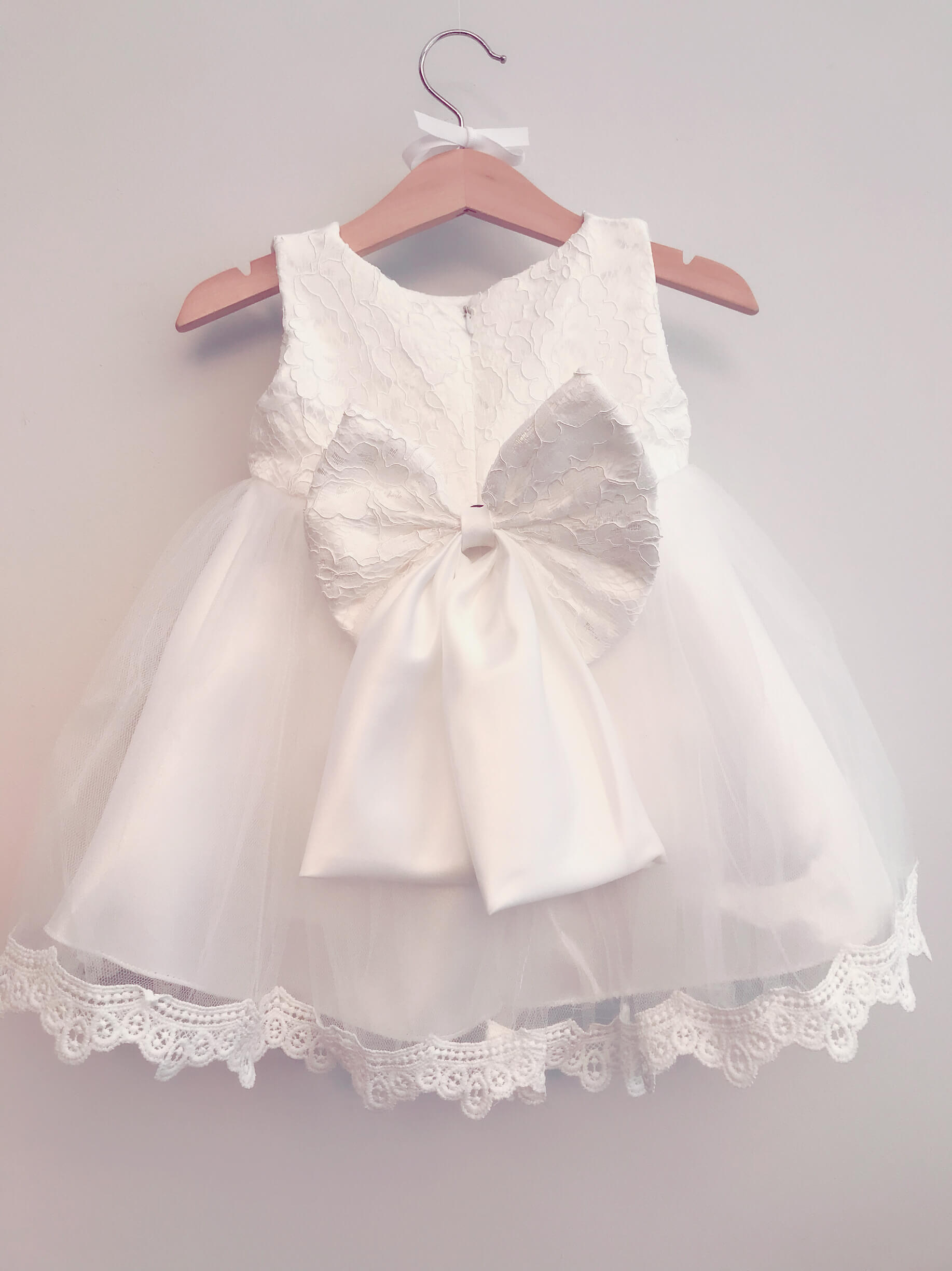 White Princess Bow Dress – Baby Boutique Clothing