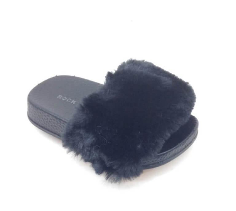Itty Bitty Black Fluffy Sliders
