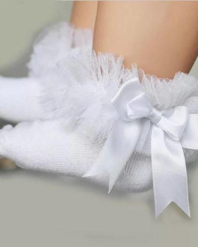 Itty Bitty White Tutu Socks