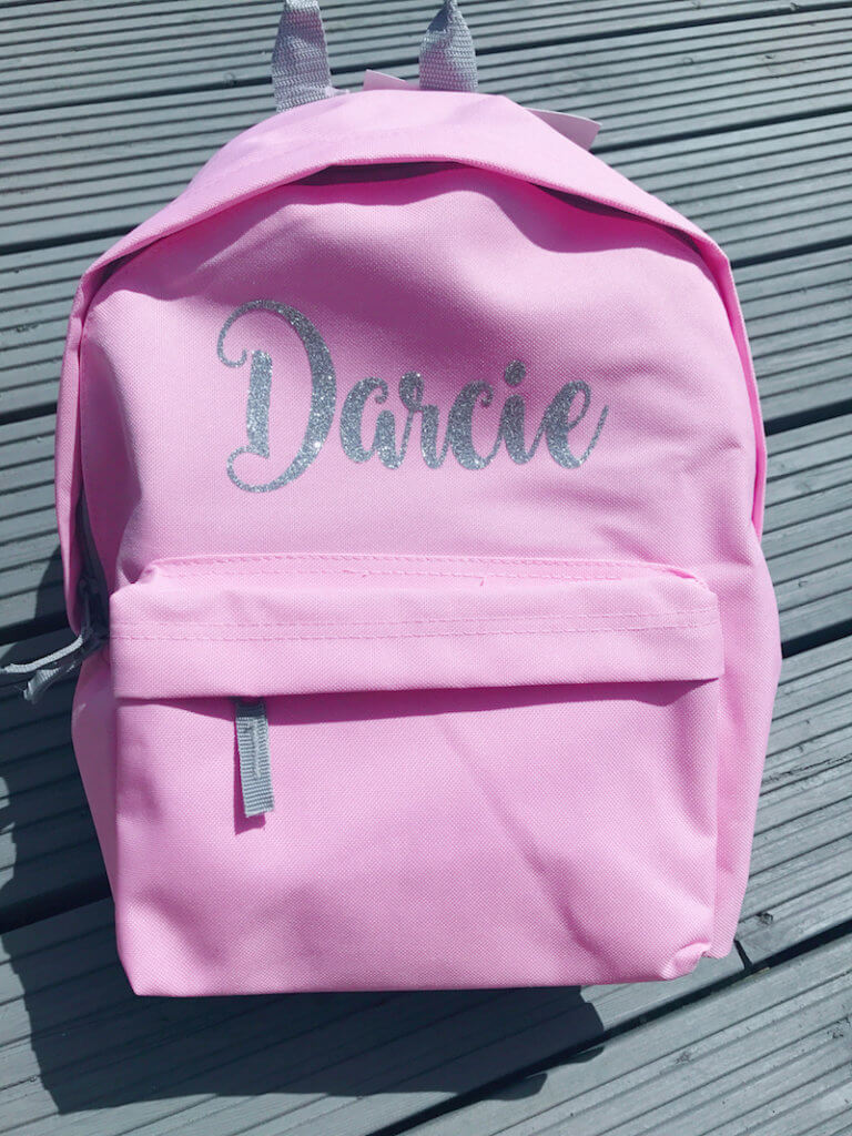 Itty Bitty Personalised Pink Backpack