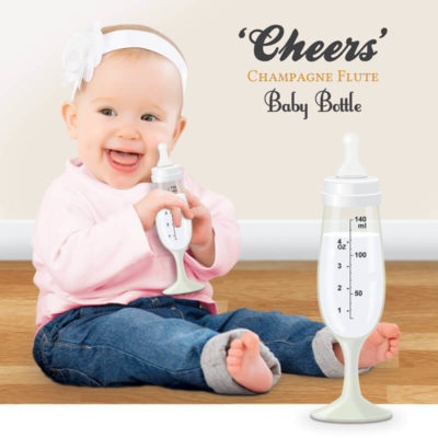 Cheers Champagne Flute Baby Bottle