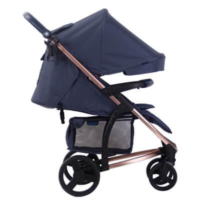 My Babiie Mb200 Rose Gold And Navy Stroller Pushchair