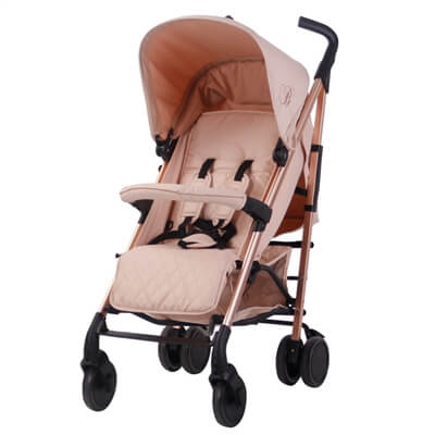 My Babiie Billie Faiers MB51 Rose Gold and Blush Pink Stroller Pushchair Buggy