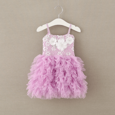 Itty Bitty 2017 Purple Tutu Dresses with 3D Flowers