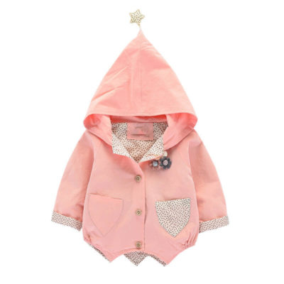 Itty Bitty Pink Star Hooded Jacket