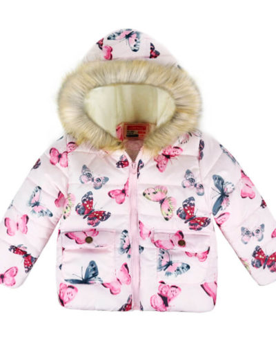 Itty Bitty Pink Butterfly Coat