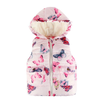 Itty Bitty Butterfly Hooded Fleece Gilet
