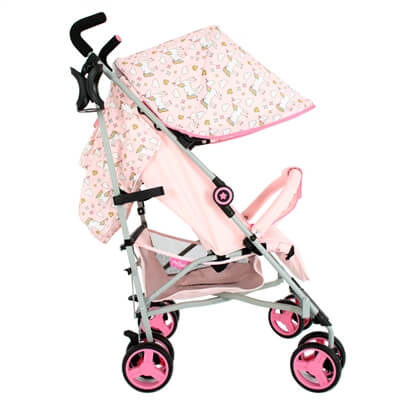 My BabiieMB02 Pink Unicorns Stroller Pushchair Buggy