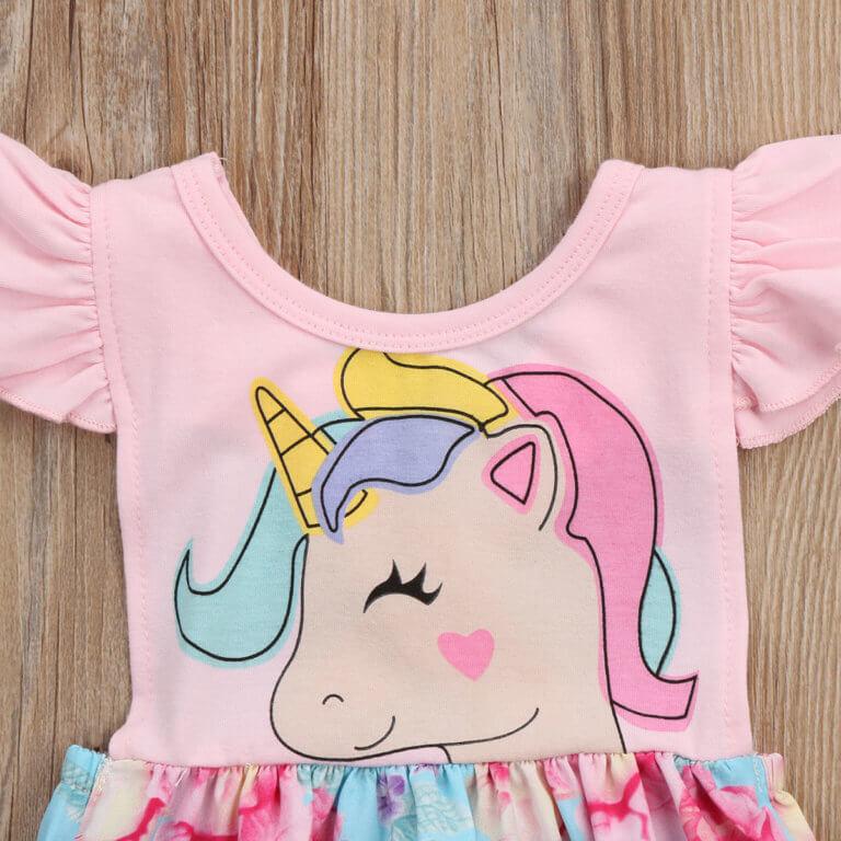 Itty Bitty Girls Unicorn Sleeveless Romper