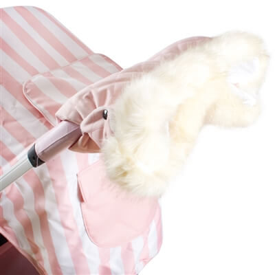 My Babiie Fur Trimmed Baby Pink Pushchair Handmuff