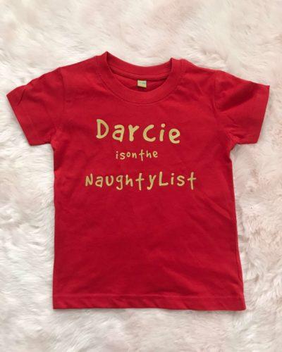 Itty Bitty Personalised Christmas T Shirt