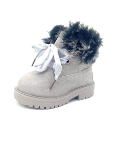 Itty Bitty Alaskan Grey Winter fur boots