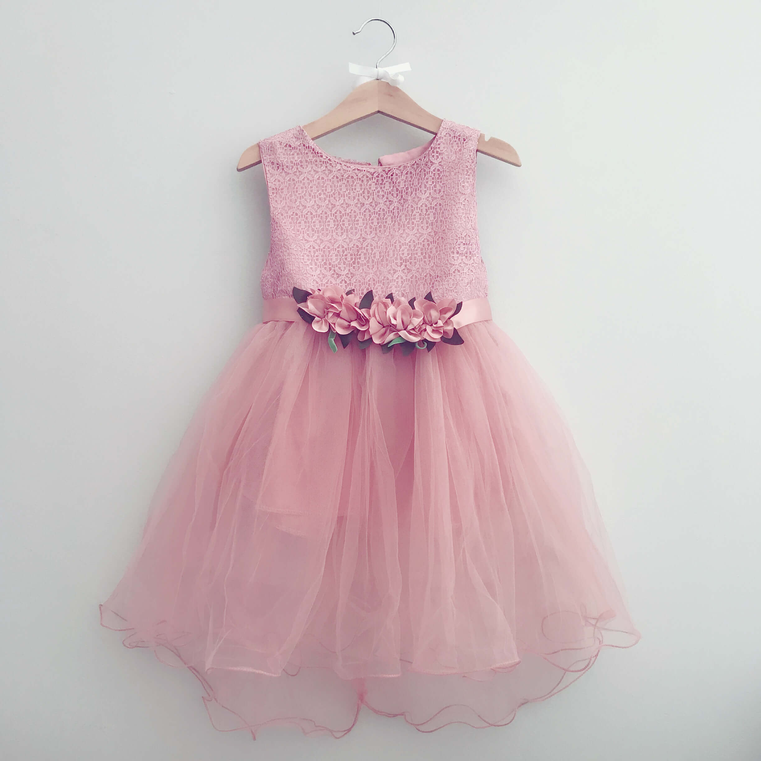 Itty Bitty Pink Princess Flower Dress Baby Boutique Clothing