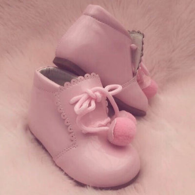 Itty Bitty Pink Pom Pom Shoes