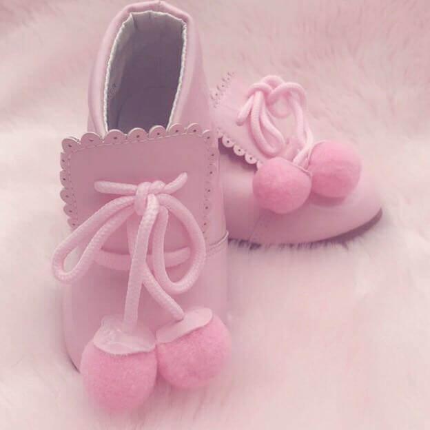 Itty Bitty Pink Pom Pom Shoes