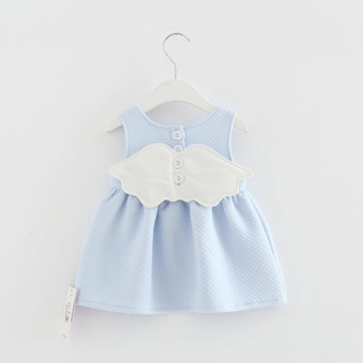 Itty Bitty Baby Blue Angel Wings Dress