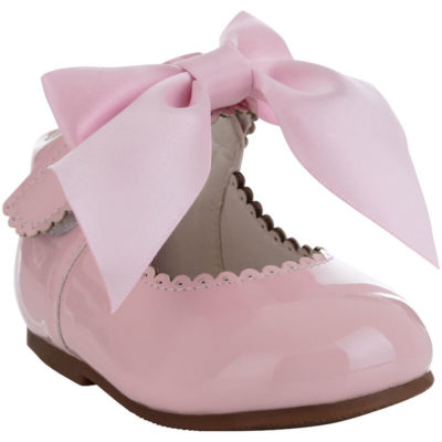 Itty Bitty Pink Bow Hard Soled boots