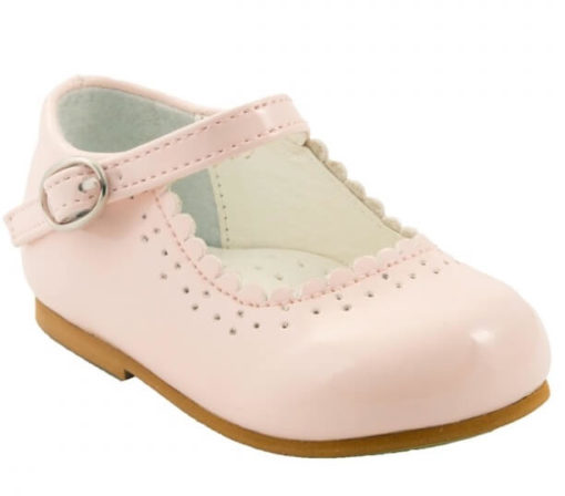 Itty Bitty Pink Bow Buckle Shoes