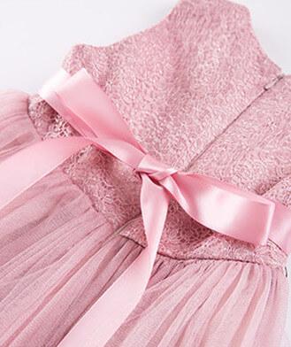 Itty Bitty Pink Princess Flower Dress
