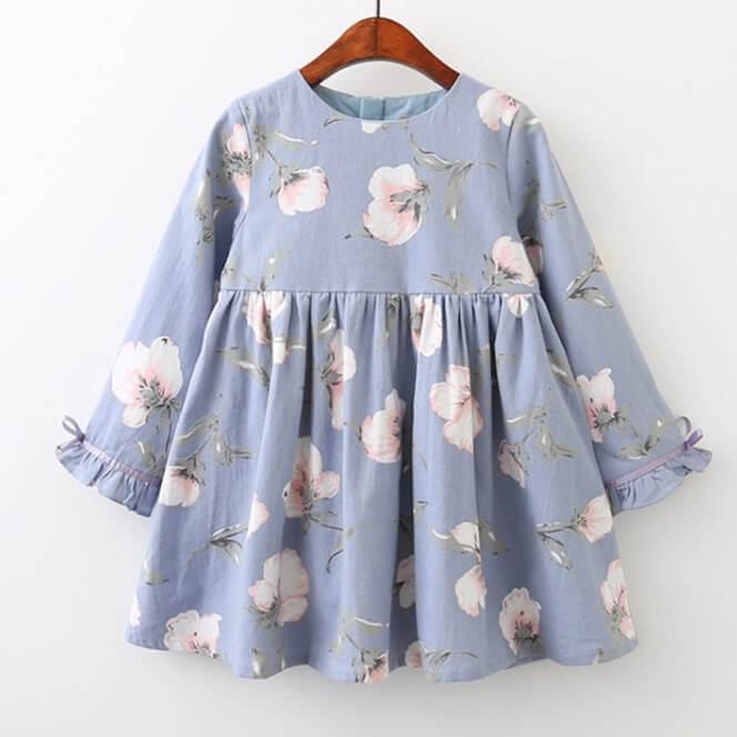 Itty Bitty Blue Floral Dress