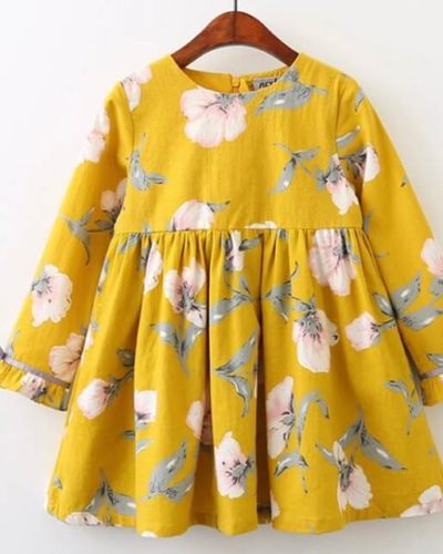 Itty Bitty Yellow Floral Dress