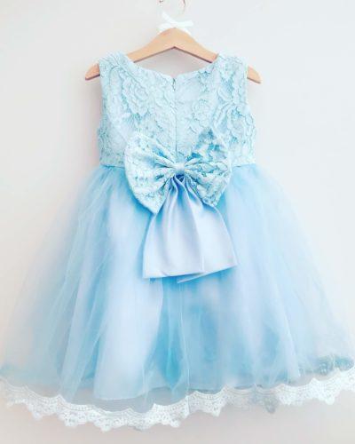 Blue Princess Bow Dress