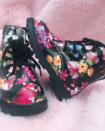 Itty Bitty Limited Edition Black Floral Boots