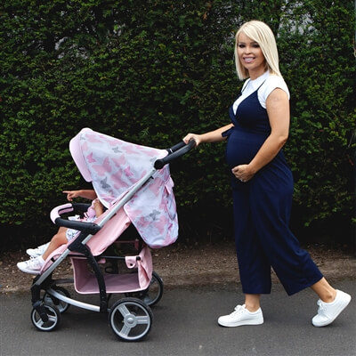 Katie Piper My Babiie MB200+ Pink Butterflies Travel System