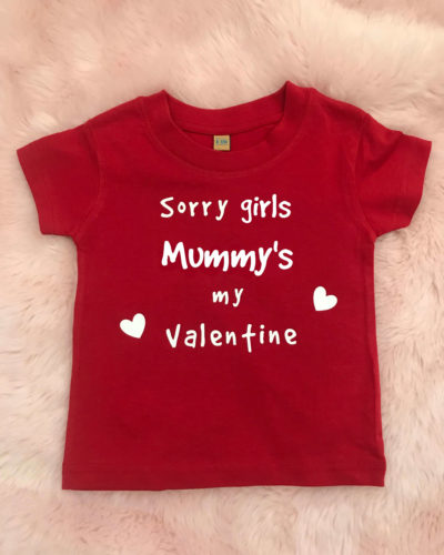 Itty Bitty Sorry Girls Valentine T Shirt