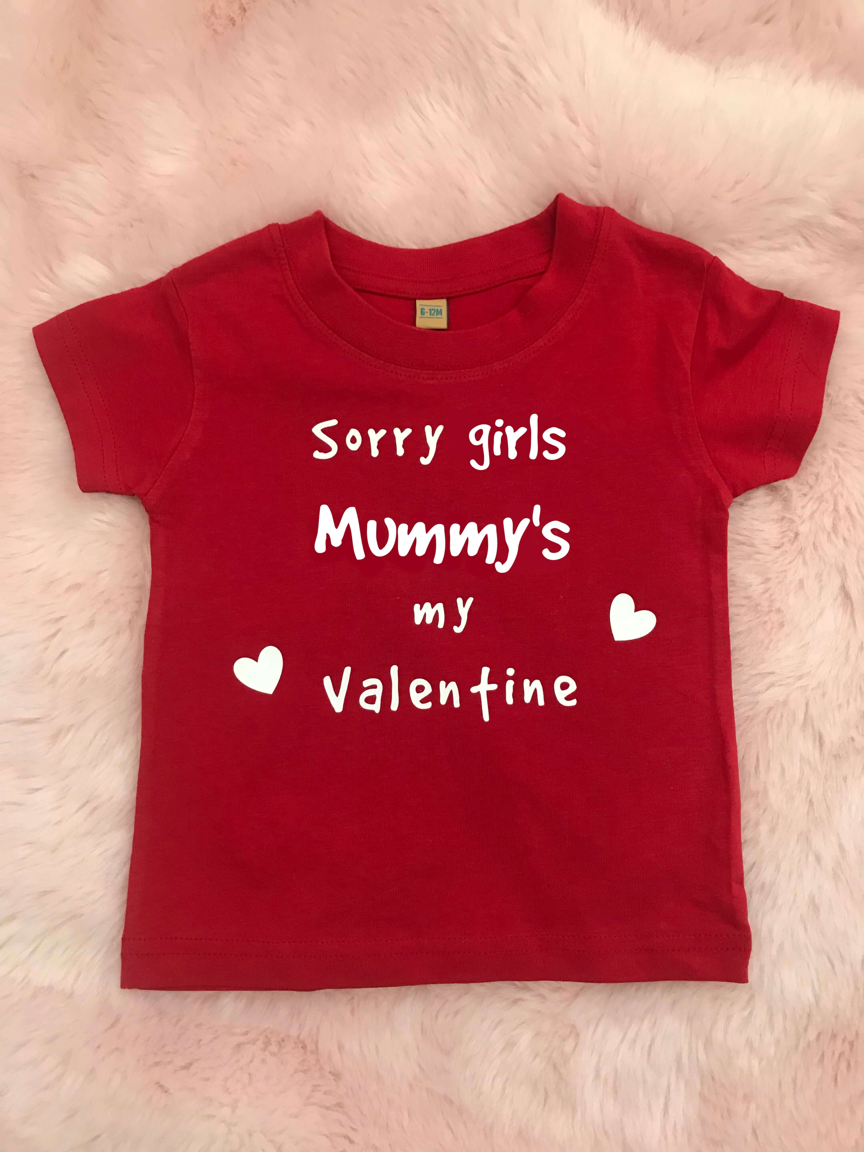 Itty Bitty Sorry Girls Valentine T Shirt Baby Boutique Clothing