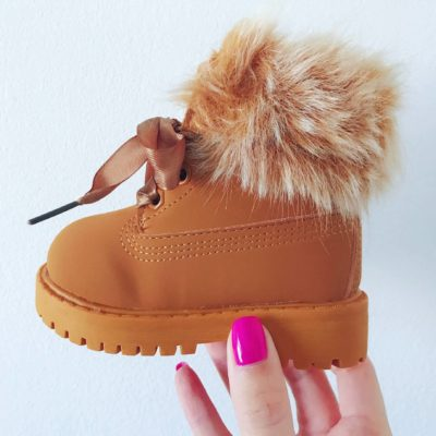 Itty Bitty Camel Winter fur boot