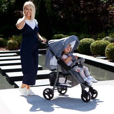 My Babiie Katie Piper Believe MB30 Grey Triangles Pushchair