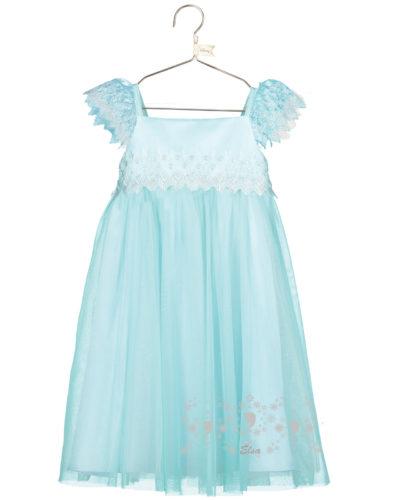 Disney Boutique Elsa Frozen Aqua lace smock dress with headband