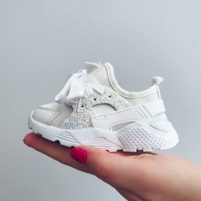 Itty Bitty White Sparkle Glitter Runners