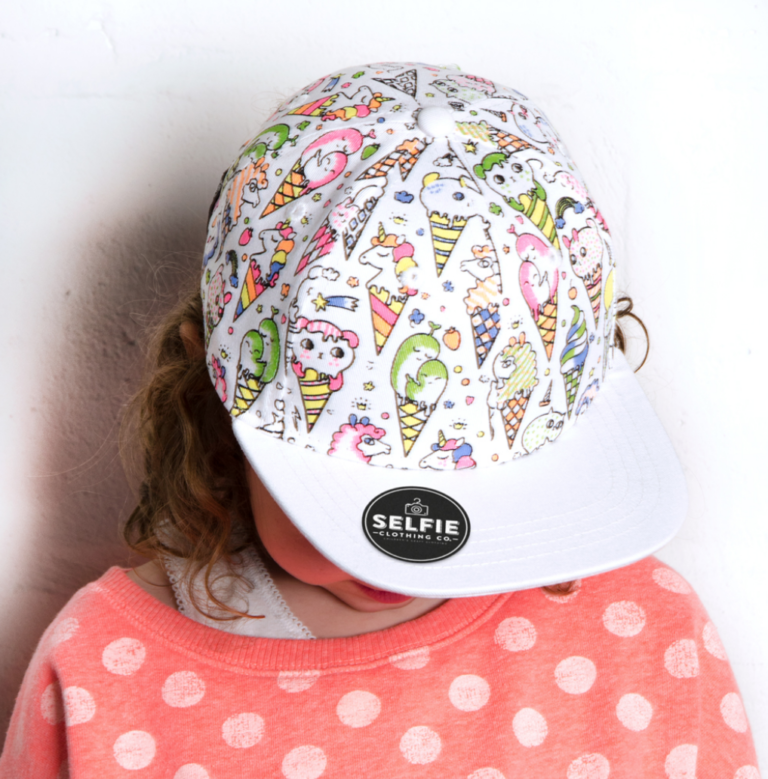 Itty Bitty Colouring Ice Kream Kitty Colour In Snapback Baseball Cap